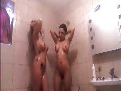 Babe, Big Boobs, Lesbian, Shower