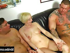 Blowjob, German, Hardcore, MILF, Threesome