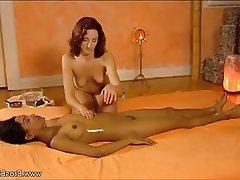 Brunette, Lesbian, Massage