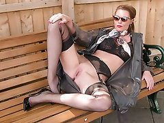 MILF, Lingerie, Pantyhose, Outdoor