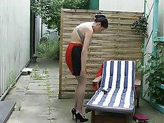 German, Masturbation, Mature, Outdoor