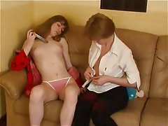 Lesbian, Old and Young, Orgasm